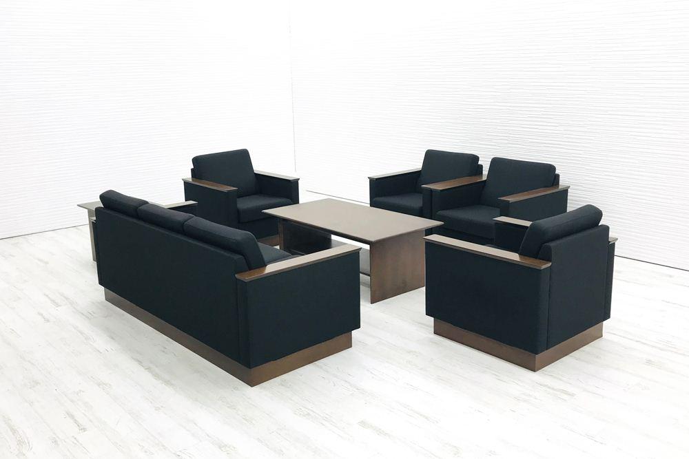 応接セット コクヨ 応接家具 7点セット 中古 応接ソファ 応接テーブル 応接ソファー 中古オフィス家具の画像