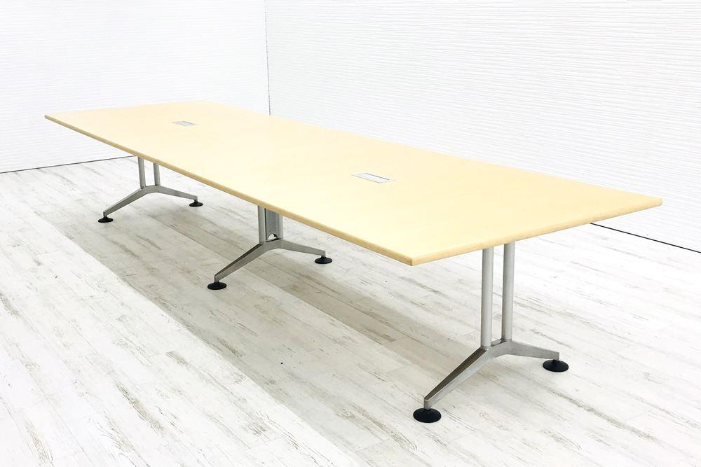 ウィルクハーン 大型会議机 中古 W4000×D1200mm×H740mm 幅4000 ミーティングテーブル 会議机 中古オフィス家具の画像