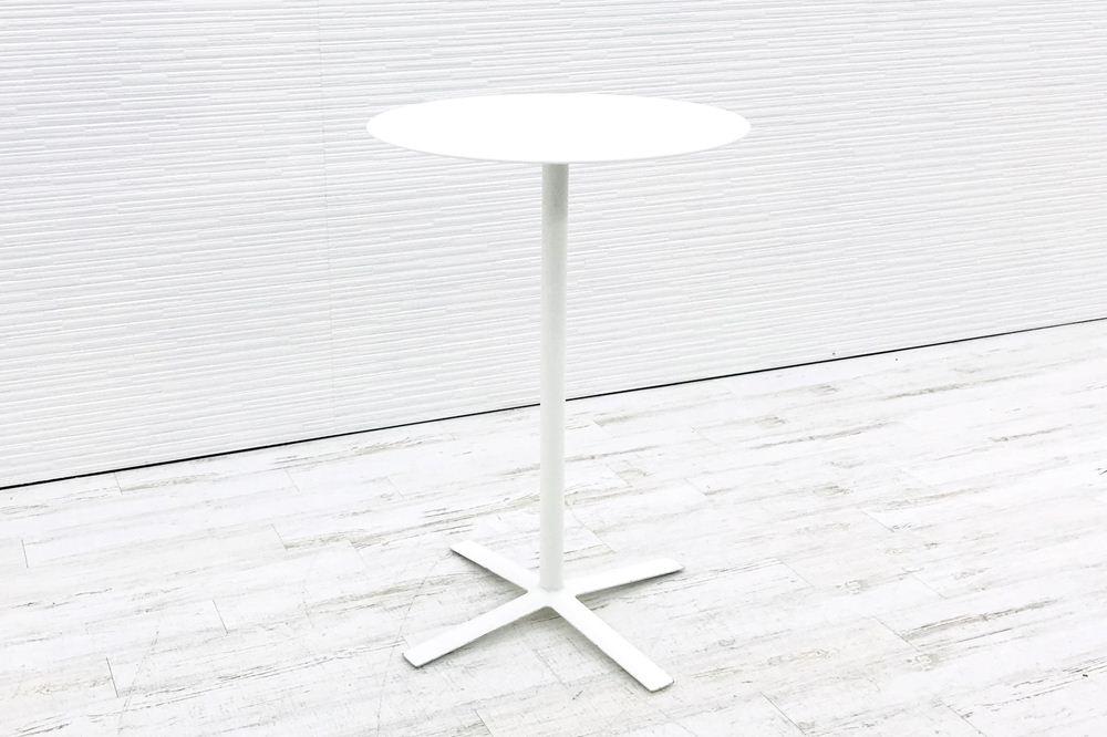 カッシーナ Cassina FLOW フローテーブル 丸テーブル ハイテーブル 中古テーブル ミーティングテーブル W720×D720×H1050 中古オフィス家具の画像