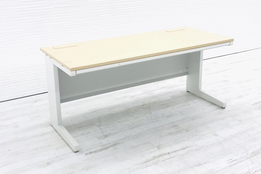 イナバ 平机 デュエナ W1600×D700×H700 幅1600 事務机 中古デスク 中古机 中古オフィス家具の画像