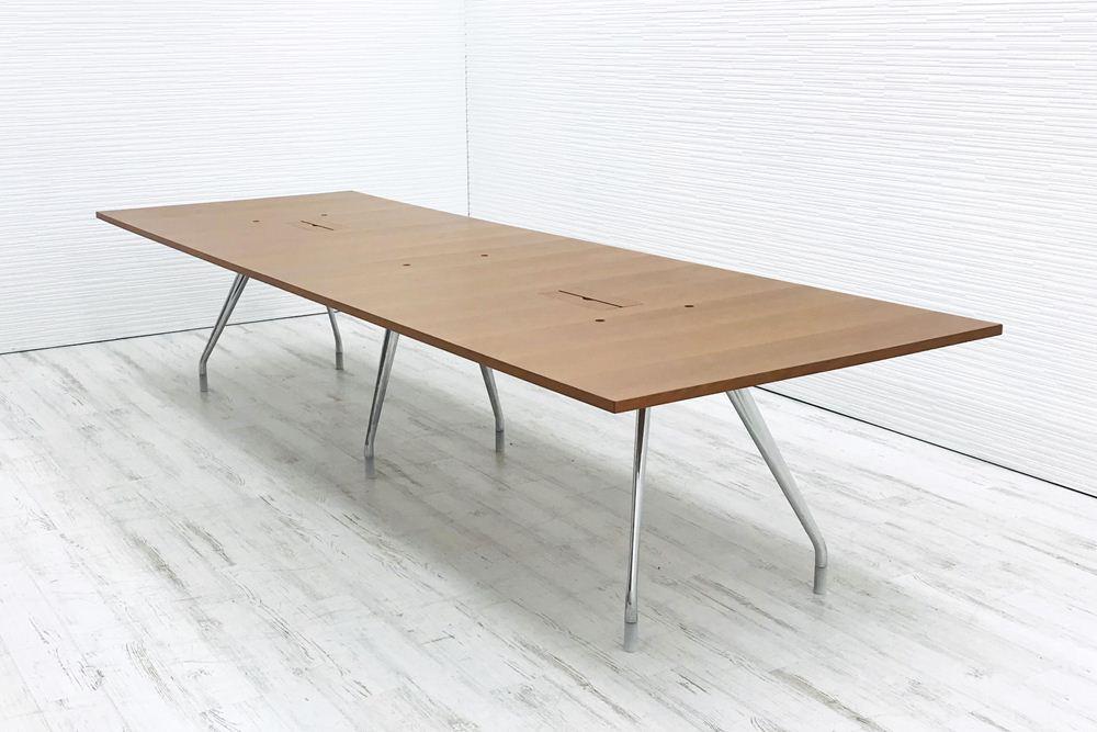 ハーマンミラー 大型会議机 中古テーブル W3600×D1200mm×H750mm 幅3600 ミーティングテーブル 会議机 中古オフィス家具の画像