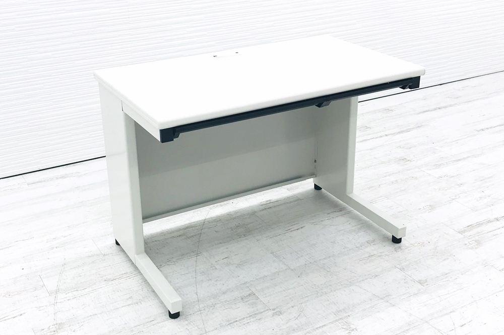 プラス 平机 W1000×D600×H700 中古机 中古オフィス家具 オフィスデスク 事務机 ホワイトの画像
