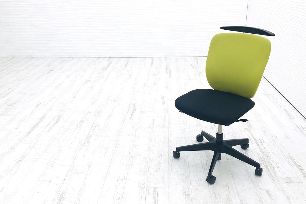 イトーキ プラオチェア 中古チェア 肘なし アップルグリーン 中古オフィス家具 オフィスチェア KE-240GHHT1T1L6の画像