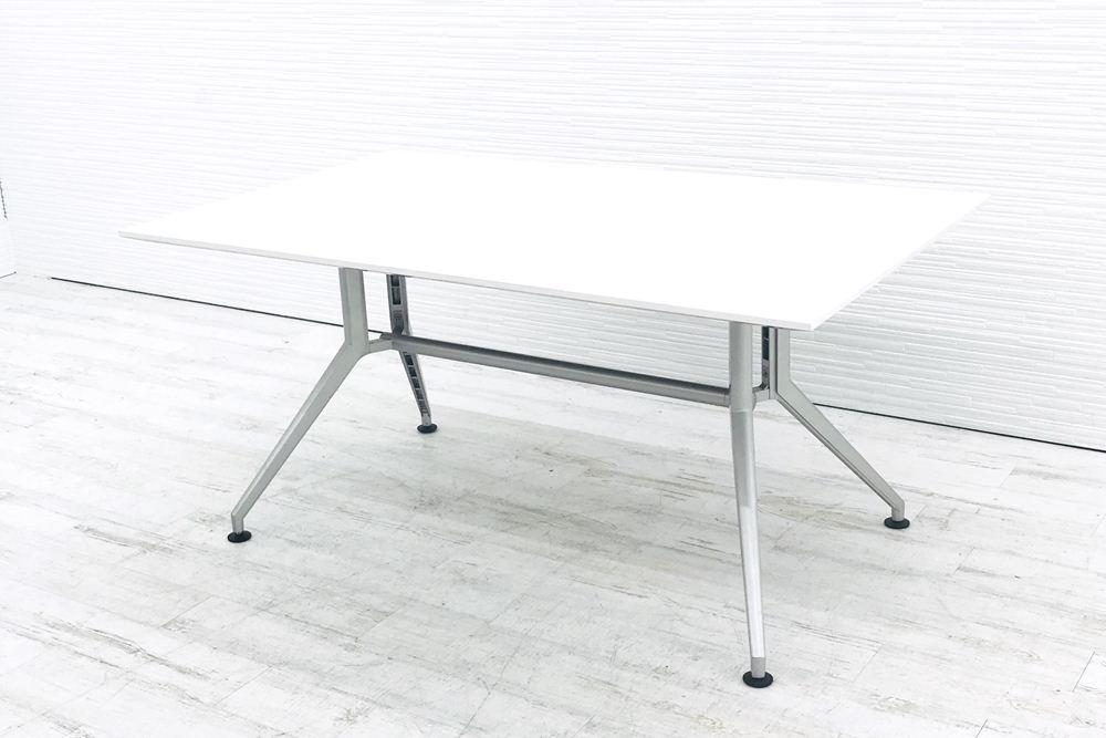 イトーキ 中古机 中古テブール DDシリーズ ミーティングテーブル W1500 中古オフィス家具 DDDP-159S-W9の画像