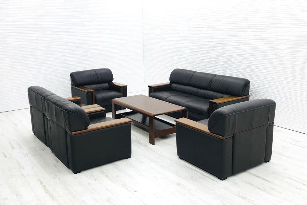 応接セット プラス 応接家具 6点セット 中古 応接ソファ 応接テーブル 応接ソファー 中古オフィス家具の画像