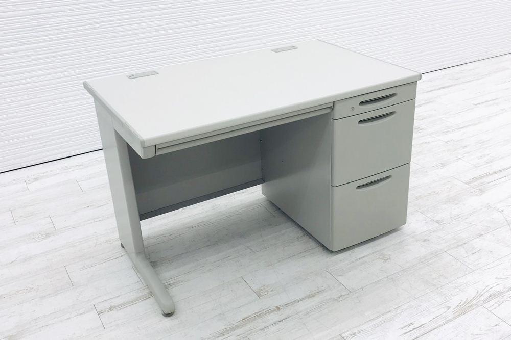 オカムラ 片袖机 3段袖 デスク SD 中古 W1100×D700×H700 事務机 オフィスデスク 中古オフィス家具の画像