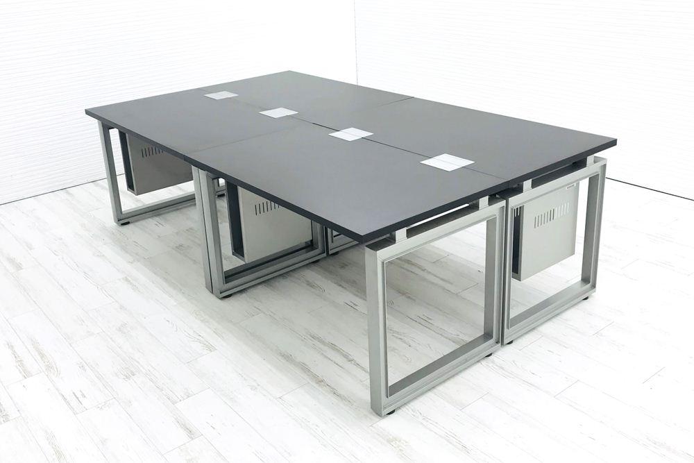 【4台セット】イトーキ インフューズ 平机 中古デスク W1200×D700×H720 中古机 中古オフィス家具 オフィスデスク 事務机 の画像