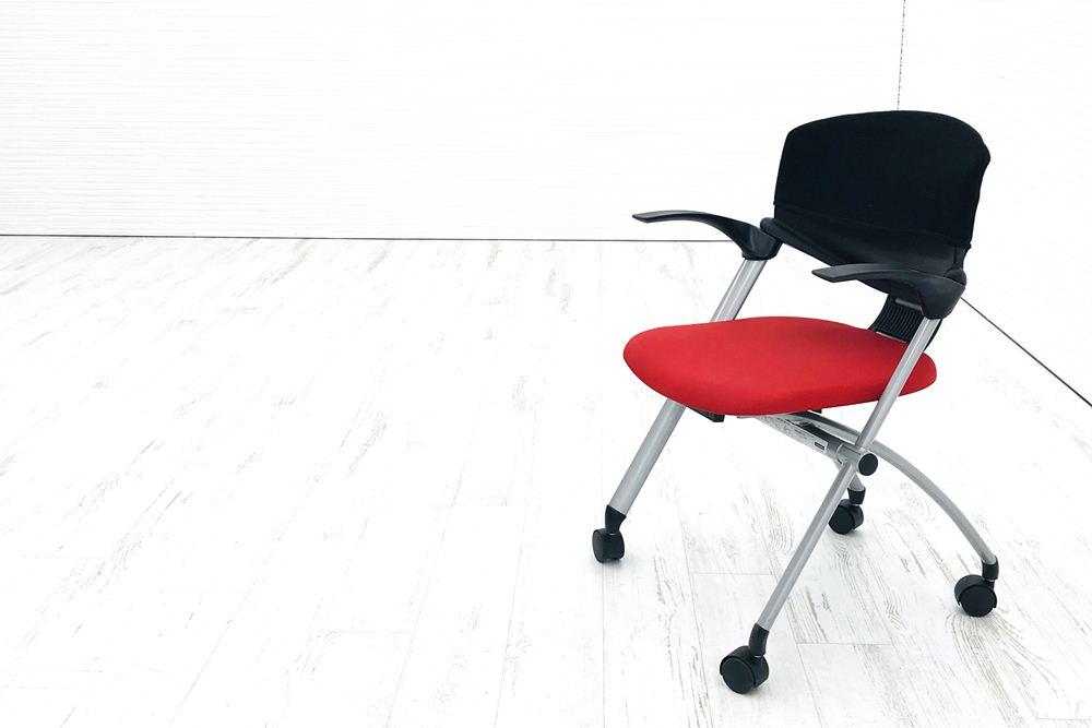 コクヨ スタッキングチェア 中古 コルサチェア 会議椅子 ミーティングチェア 中古オフィス家具 CK-986の画像