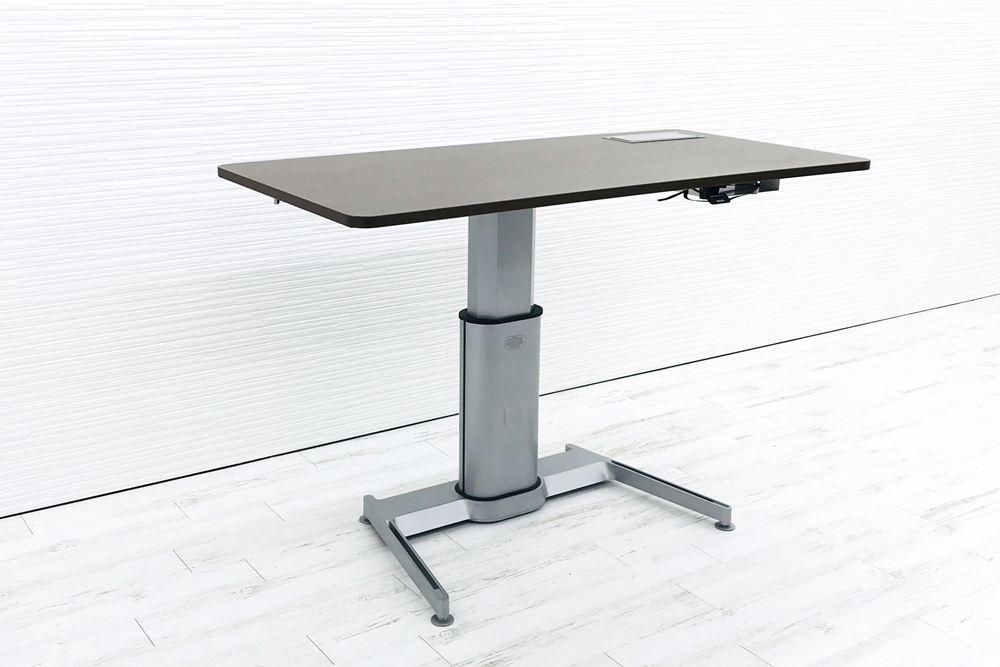 スチールケース エアタッチ 昇降テーブル Airtouch W1600×D800×H660~1092 中古デスク 手動上下昇降机 中古オフィス家具の画像