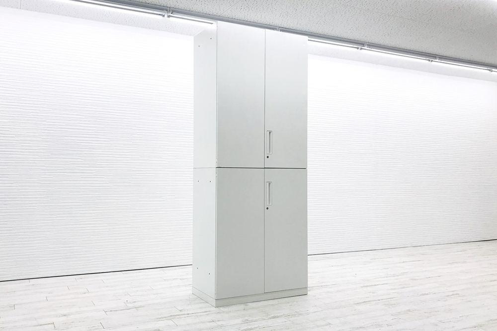 コクヨ エディア 中古キャビネット 両開き書庫 【上下セット】 900×500×2295㎜  収納家具 中古オフィス家具の画像