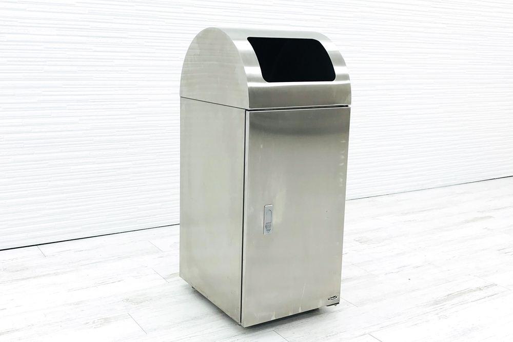 ゴミ箱 業務用ダストボックス 中古 ぶんぶく ステンレスゴミ箱 分別ゴミ箱 中古オフィス家具の画像