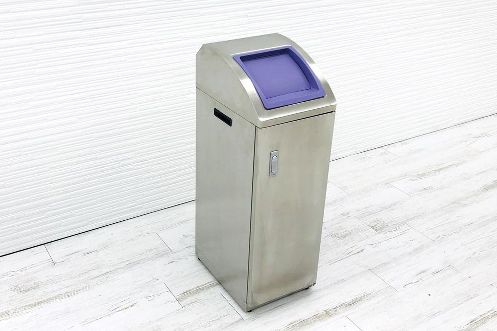 オカムラ ゴミ箱 ダストボックス 中古 ステンレスゴミ箱 分別ゴミ箱 中古オフィス家具の画像
