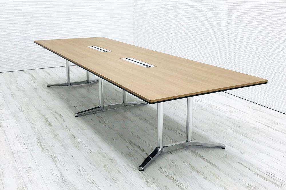 オカムラ ラティオⅡ 中古 W3600×D1200mm×H720mm 幅3600 ミーティングテーブル 4L289M 会議机 中古オフィス家具の画像