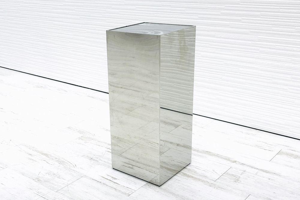 オカムラ ゴミ箱 業務用ダストボックス 中古 ステンレスゴミ箱 分別ゴミ箱 中古オフィス家具 ステンレスの画像