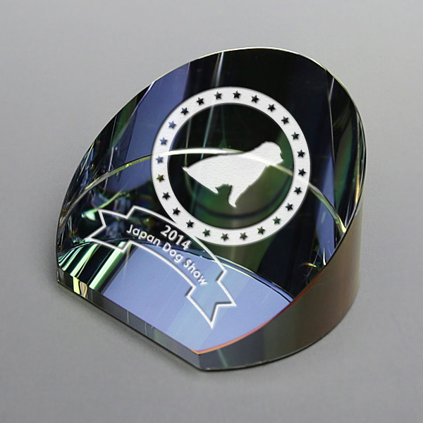ペーパーウェイト クリスタル ガラス 文鎮 サンドブラスト 彫刻無料 記念品 表彰 周年記念 創立記念 退職記念 お祝い 名入れ プレゼント画像