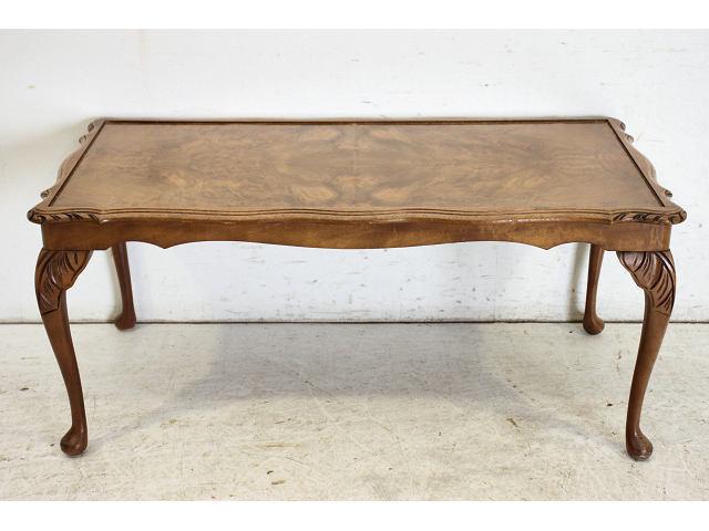 st-7 1970年代 イギリス製 ビンテージ ウォルナット 猫脚 センターテーブル ソファテーブル画像