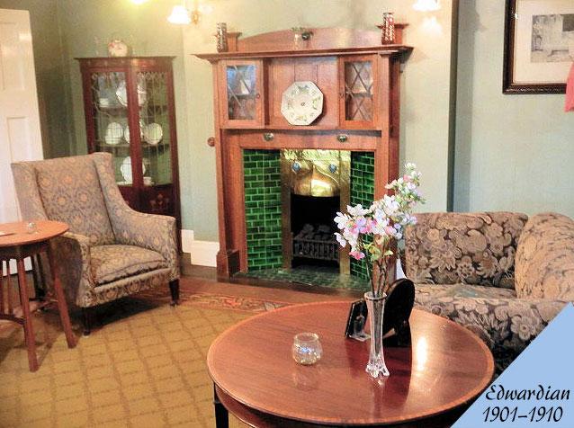 エドワーディアン様式のアンティーク家具の部屋