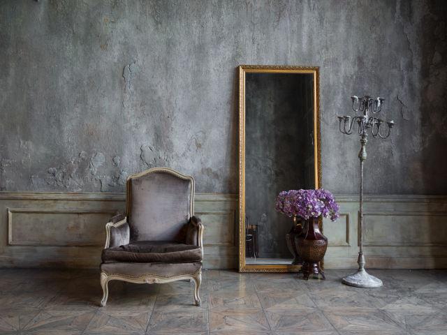 アンティークのミラーと鏡