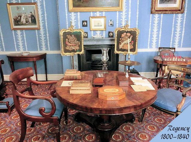 リージェンシー様式のアンティーク家具の部屋