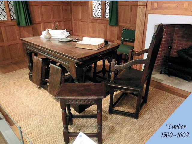 チューダー様式のアンティーク家具の部屋