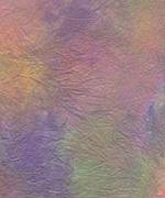 むら雲染め 揉み入り 緑+赤+紫の画像