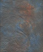 むら雲染め 揉み入り 青+焦茶の画像