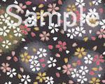 友禅紙 朧桜 黒の画像