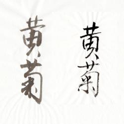 書道用紙 半紙 黄菊画像