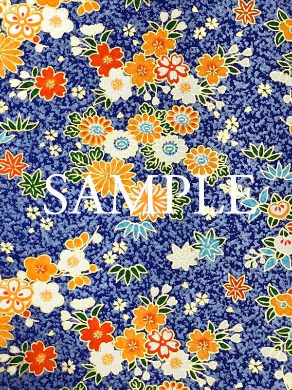 友禅紙 祝い花づくし 青の画像