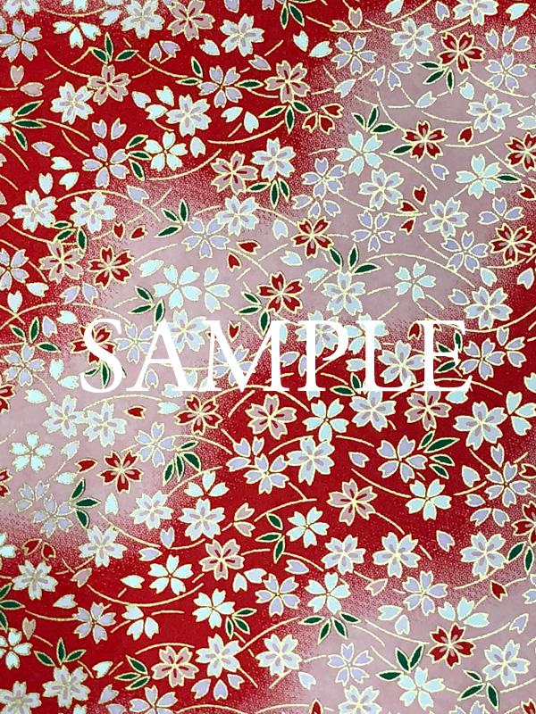 友禅紙 芝桜 赤の画像