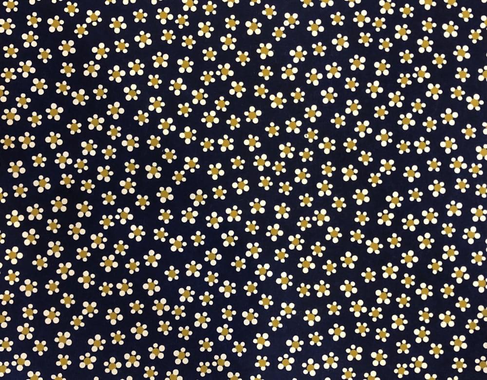 京染め 梅鉢 紺画像