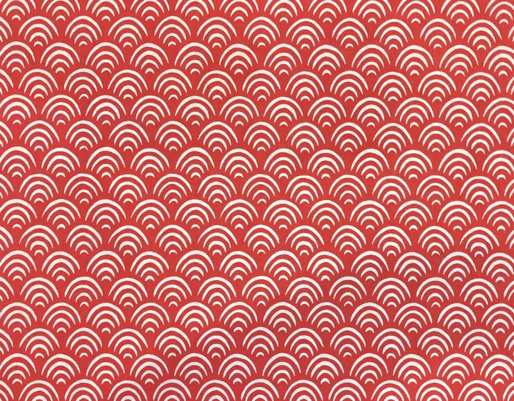 京染め 青海波 赤画像
