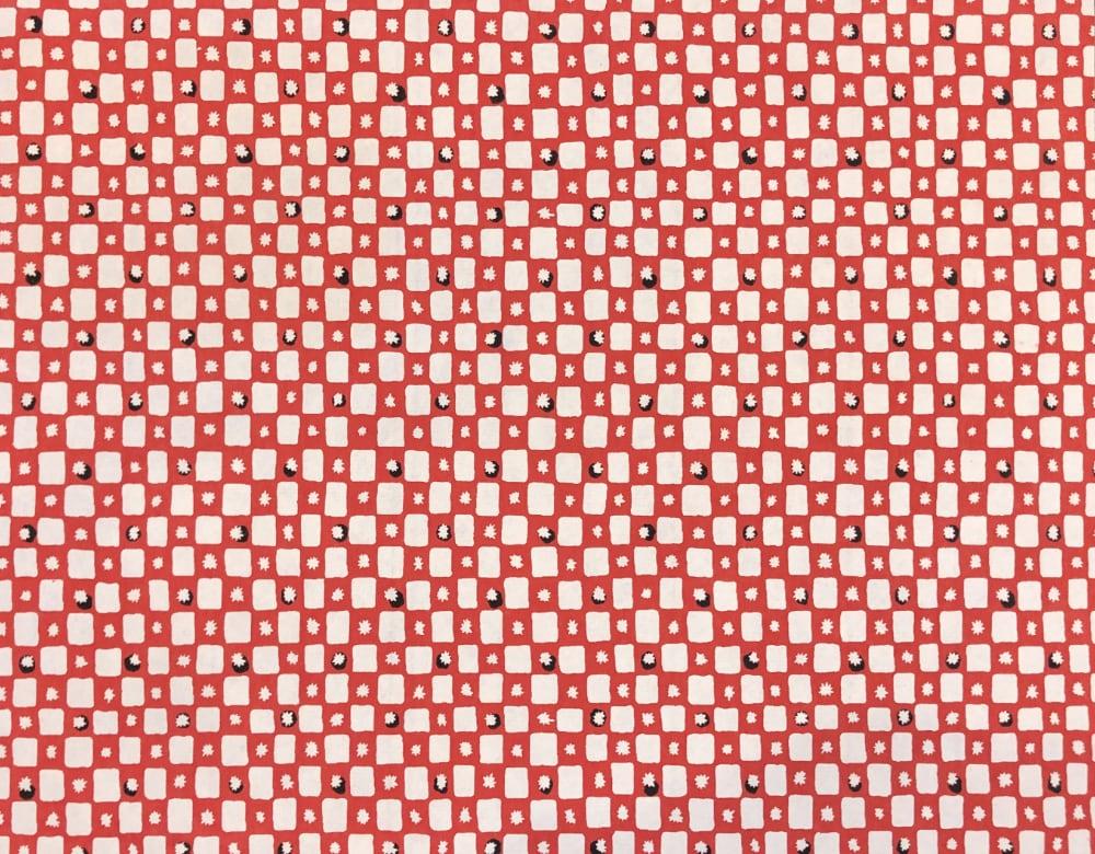 京染め 花市松 赤の画像