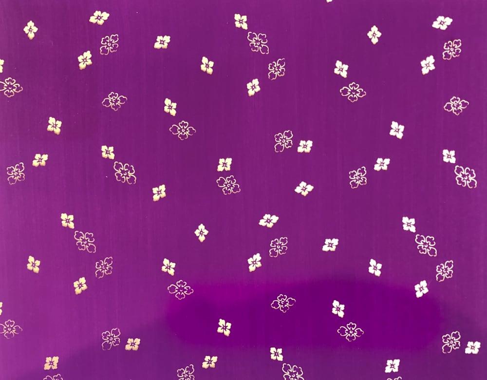 京染め 花菱 金紫の画像