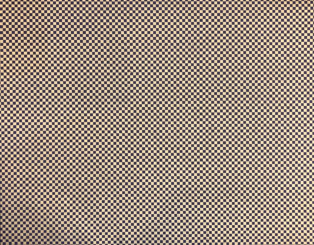 京染め 市松 金紺画像