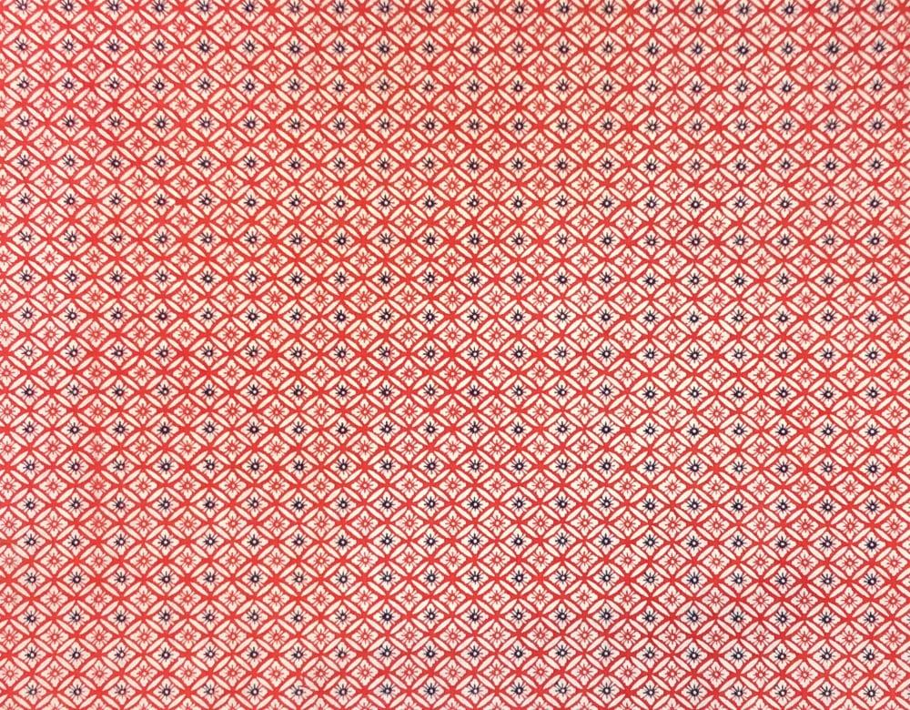 京染め 七宝 赤の画像