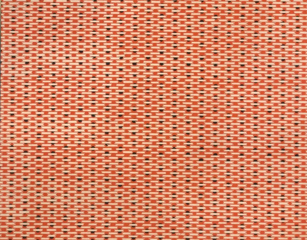 京染め 縞に菱 橙の画像