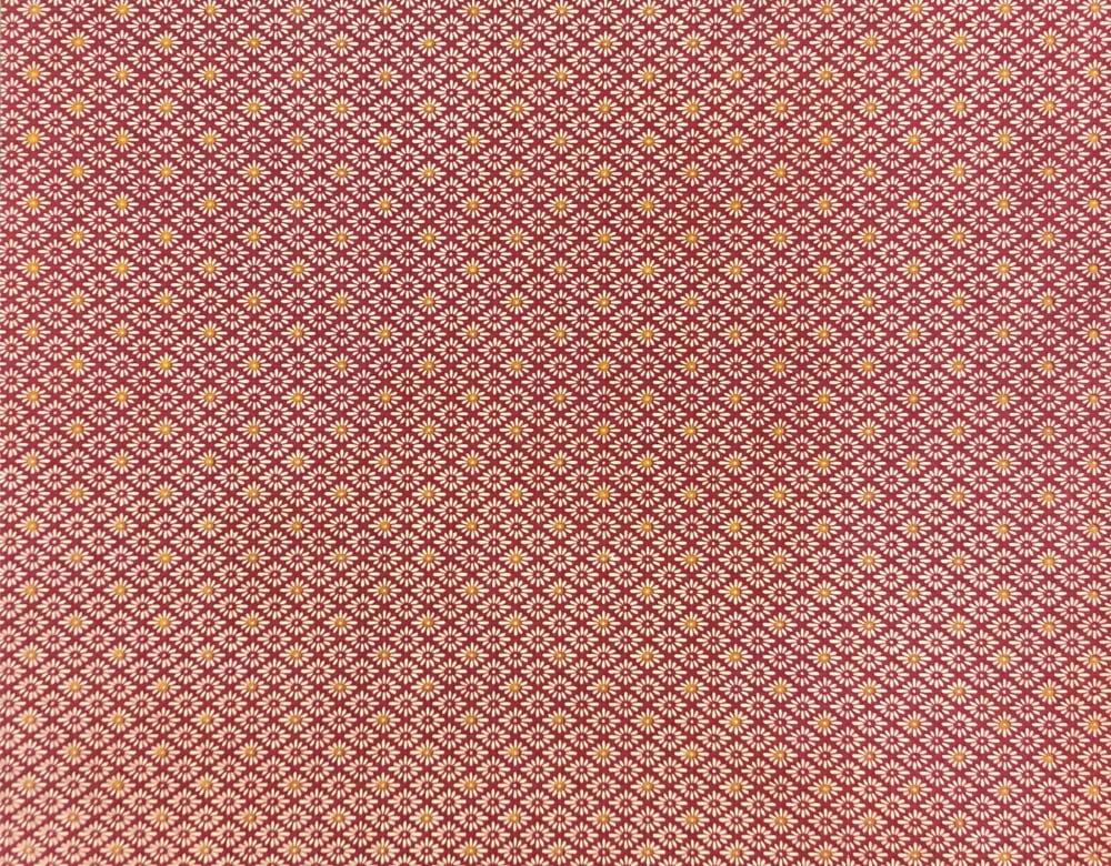 京染め 菊菱文 赤紫の画像