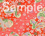 友禅紙 蝶々 赤の画像