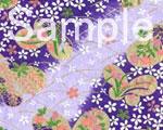友禅紙 蝶々 紫画像