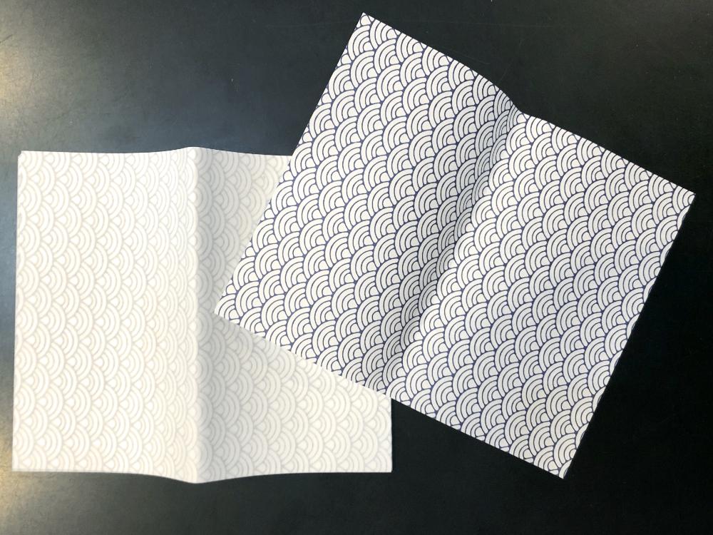みの和紙懐紙 青海波画像