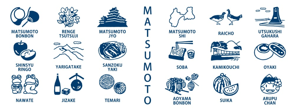 MATSUMOTO手ぬぐい画像