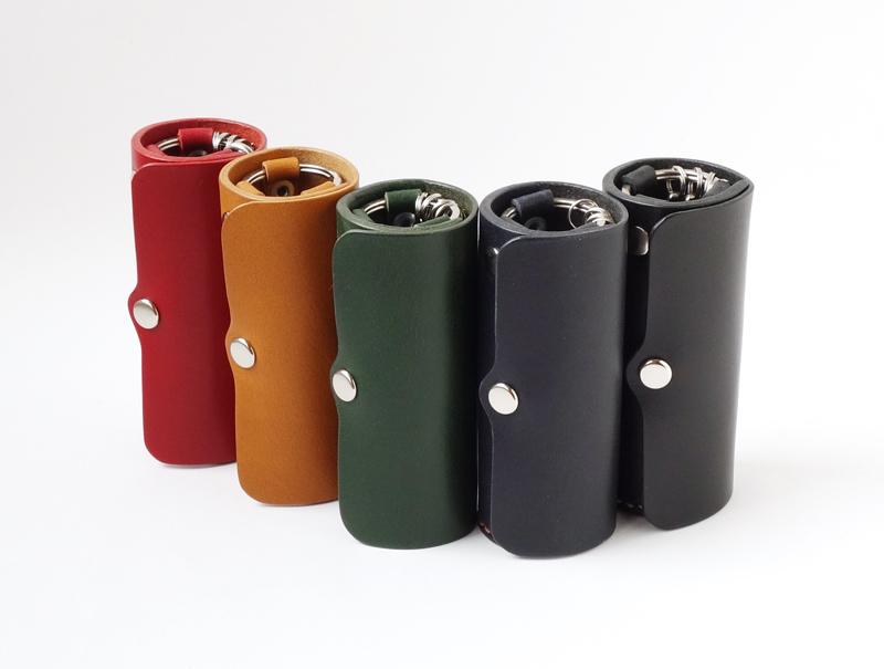 【受注生産】 縦置きできる 本革製 円筒型キーケースの画像