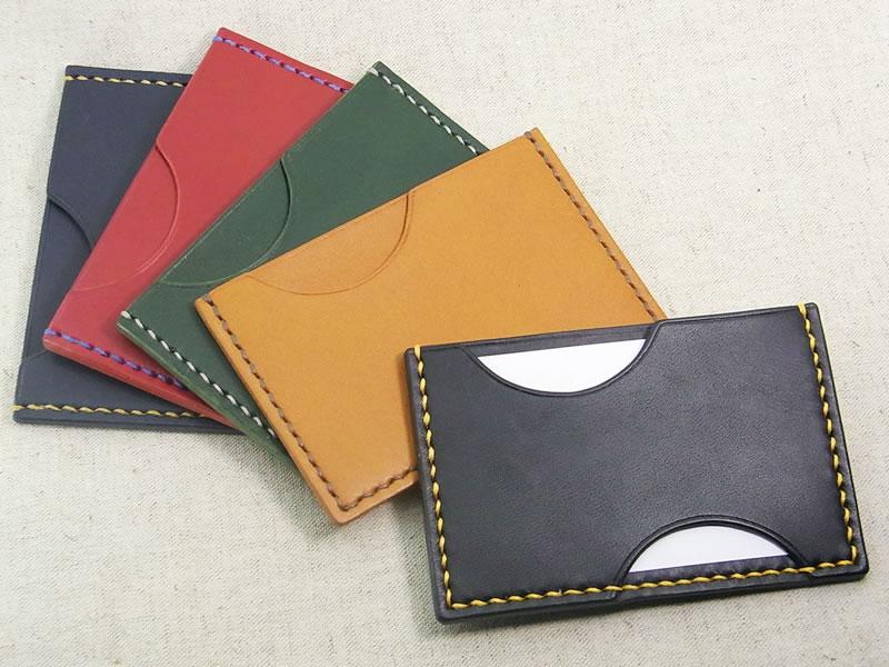 【受注生産】 本革 カード・パスケースの画像