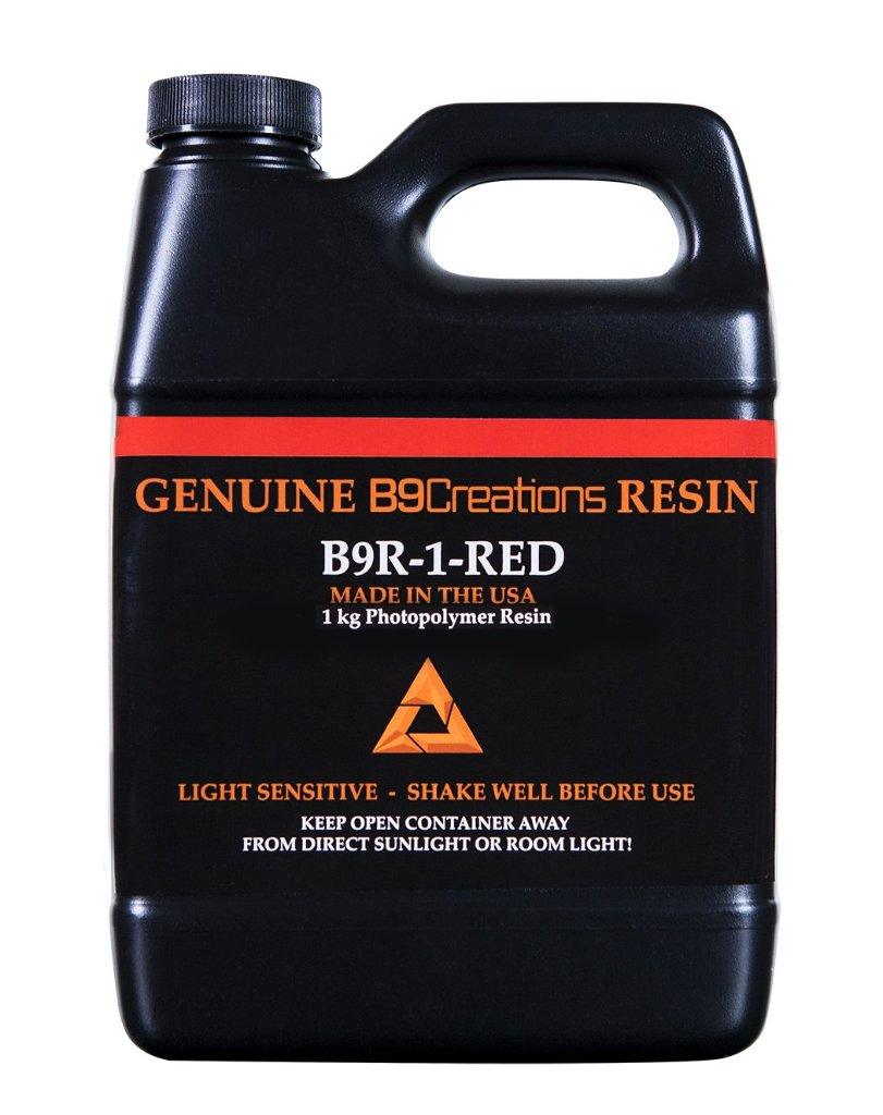 B9Creator Red Resin(レッドレジン)1Kg 試作品作成向けの画像