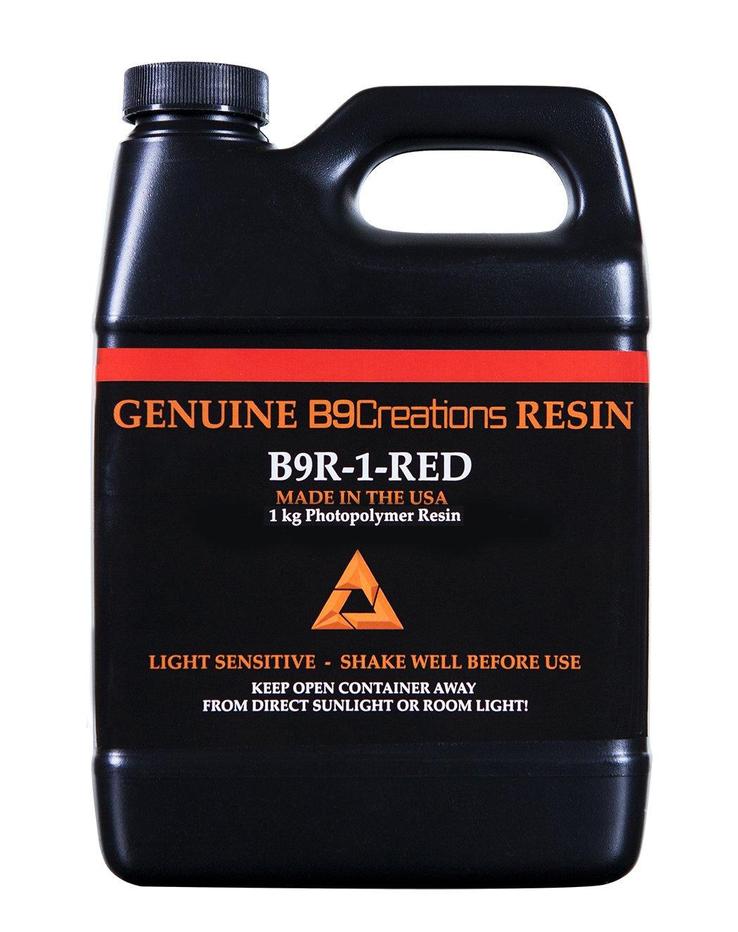 B9Creator Red Resin(レッドレジン)1Kg 試作品作成向け画像