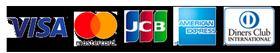 A・MASTER・JCB・AmericanExpress・ダイナースがご利用になれます。