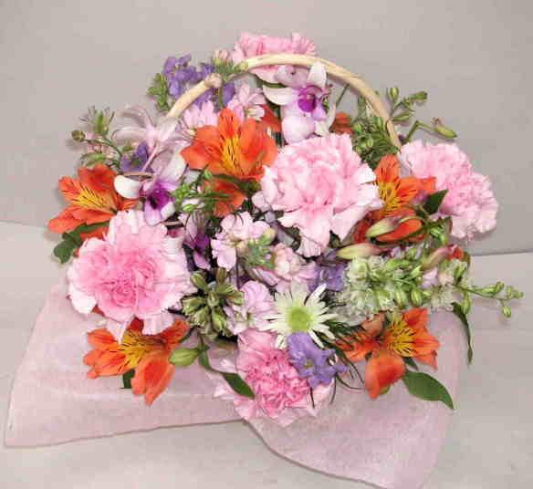 【オーキッドルビー】 蘭の華やかアレンジメント画像