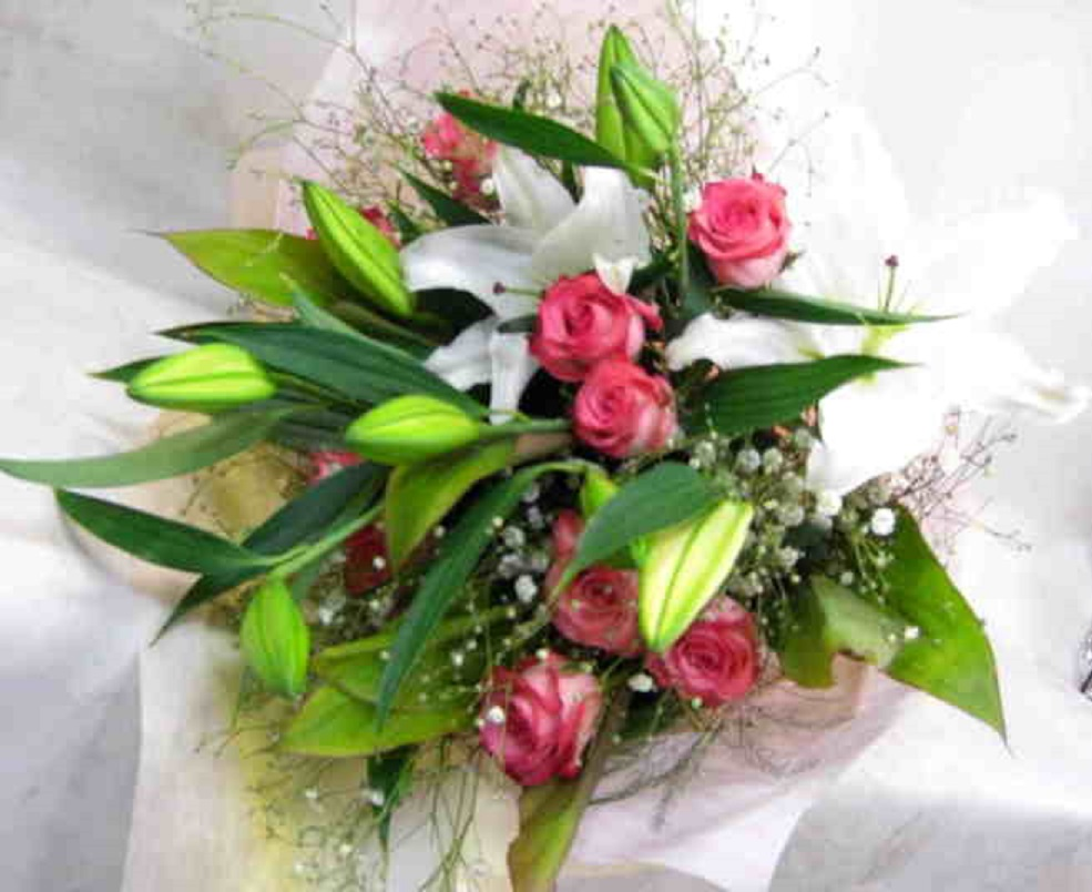 【ラブテンダー】 優しい色の花束の画像