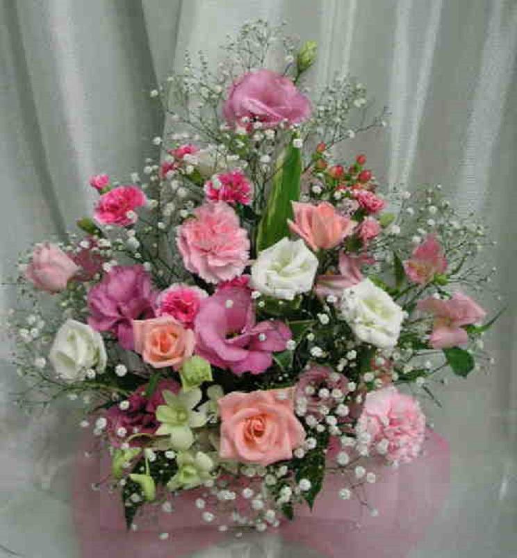【スマイルカラー】 微笑み色の花束画像